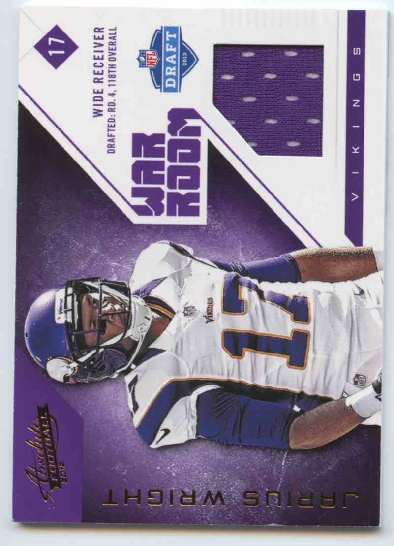 2012 Absolute NFL Rookie Jersey Collection Jarius White #16 card front image