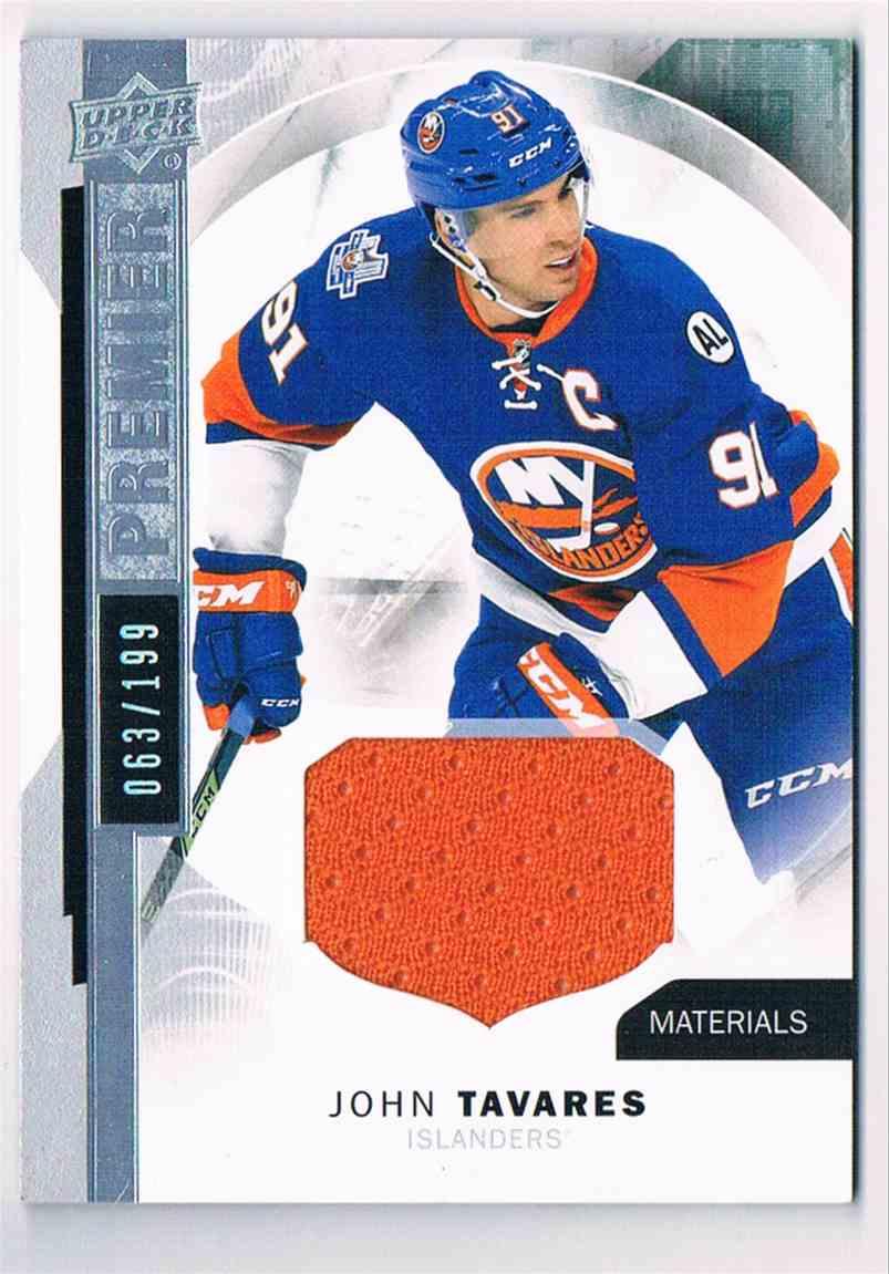 2015-16 Upper Deck Premier Materials John Tavares #25 card front image