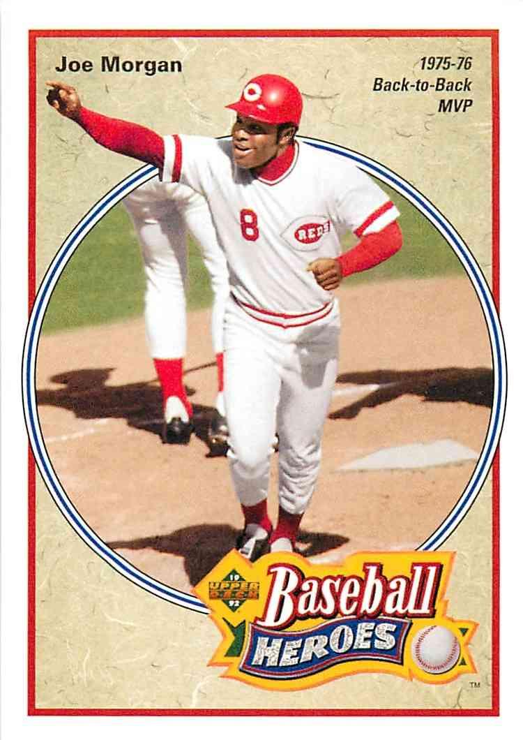 1992 Upper Deck Baseball Heroes Joe Morgan 41 Of 45 On Kronozio