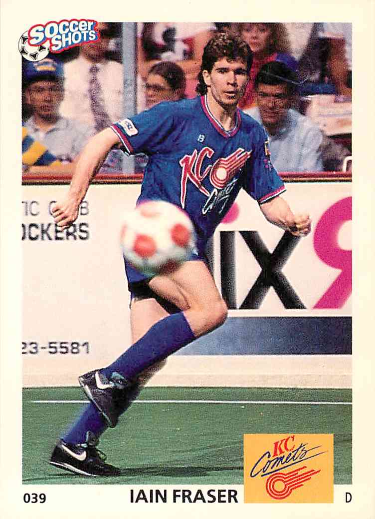 1991 Soccer Shots Iain Fraser #039 card front image
