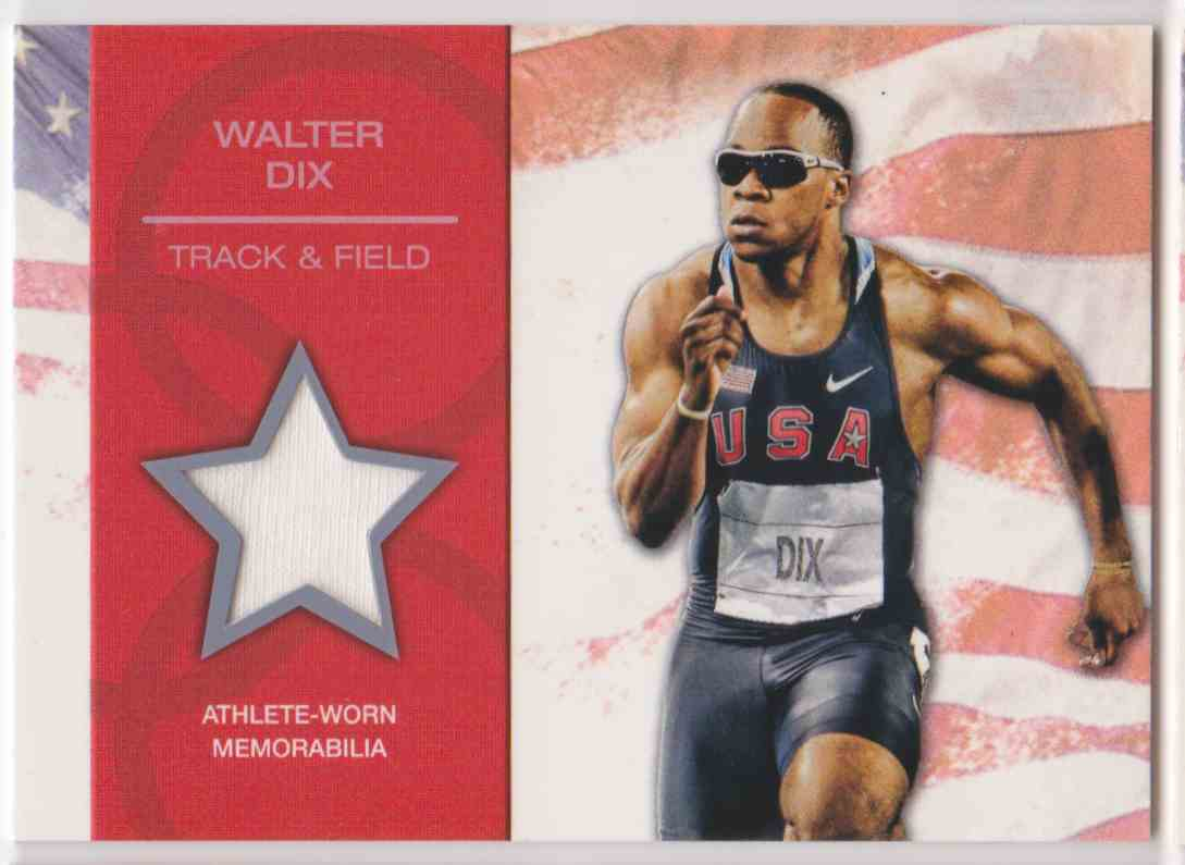 2012 Topps U.S. Olympic Team Relic Walter DIX #OR-WD card front image