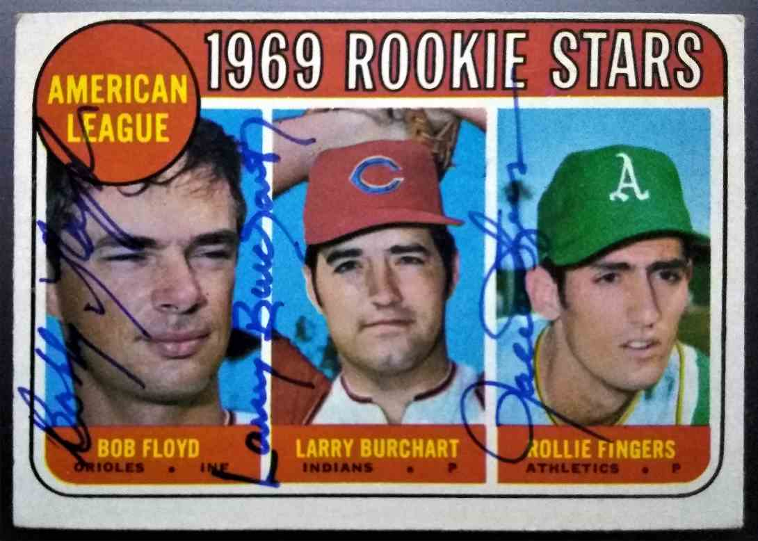 1968 Topps Rollie Fingers Bobby Floyd Larry Burchart #597 card front image