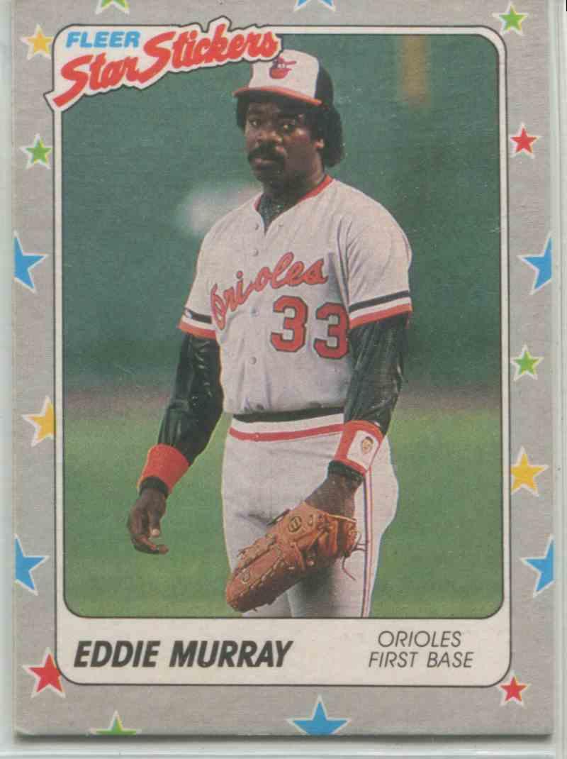 1988 Fleer Star Stickers Eddie Murray 2 On Kronozio