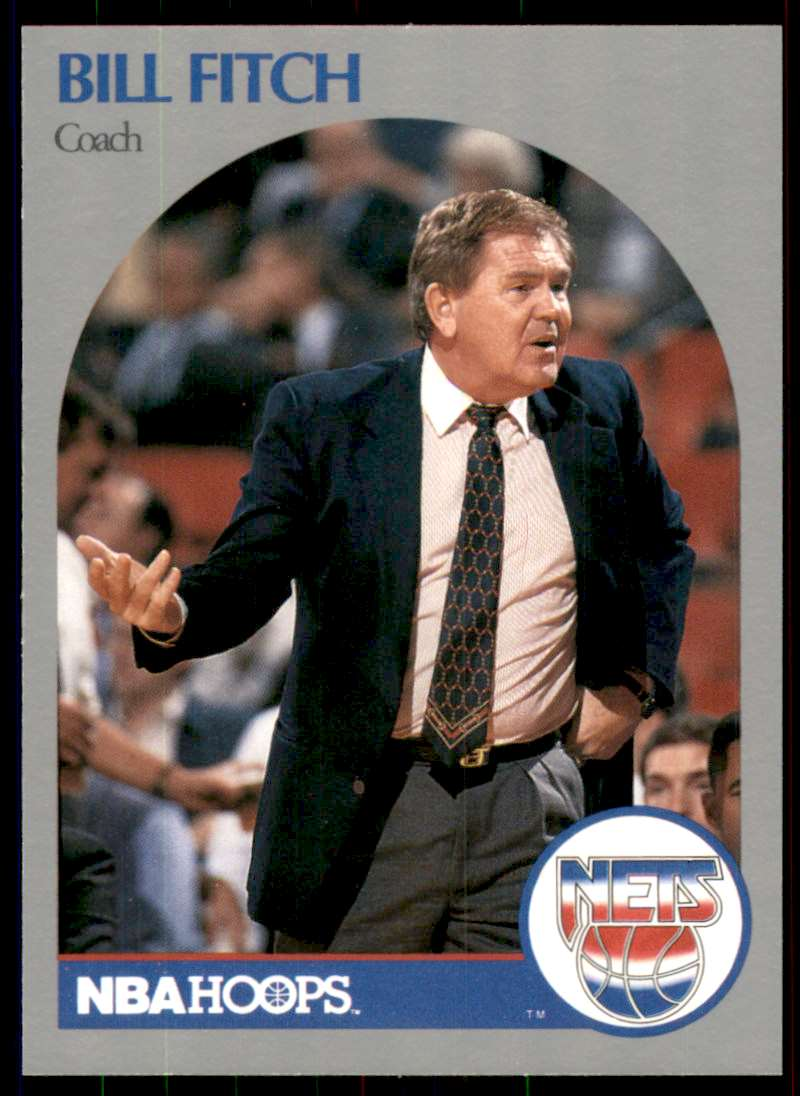 1990-91 Hoops Bill Fitch #321 card front image
