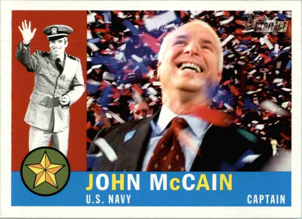 2009 Topps Heritage John Mccain #3 card front image