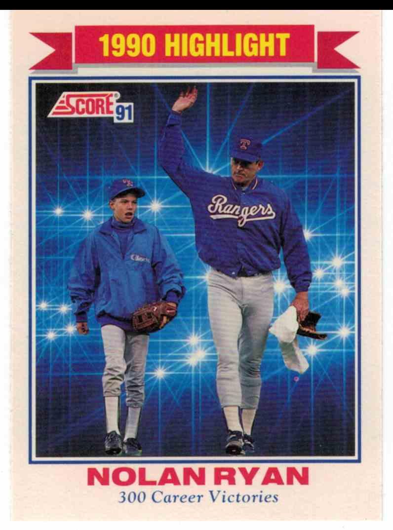 1991 Score Nolan Ryan 300 Wins #417 card front image