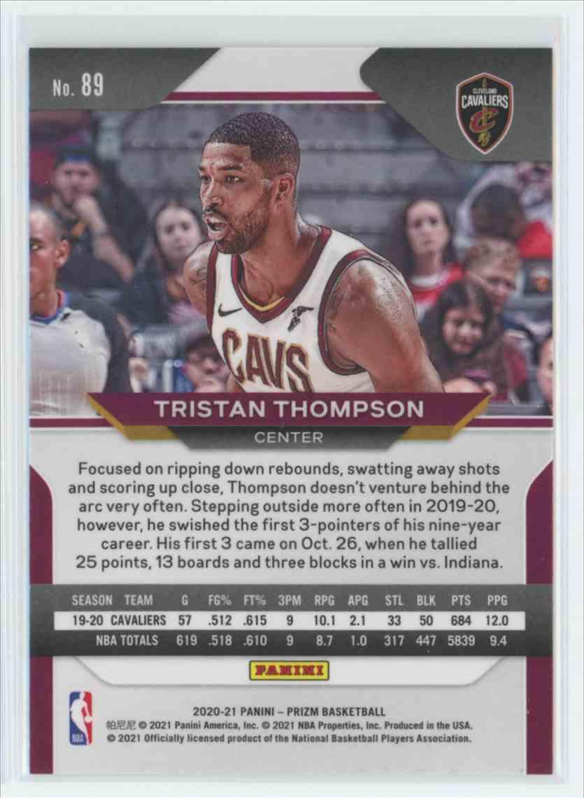 2020-21 Panini Prizm Tristan Thompson #89 card front image