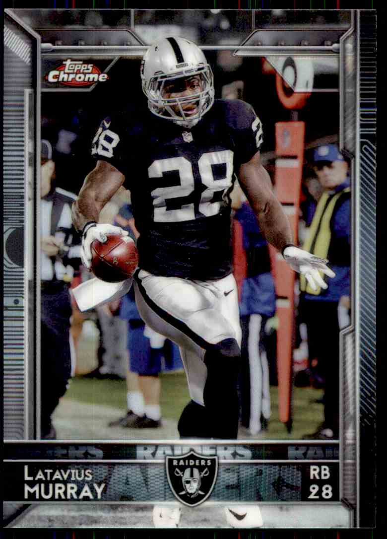 2015 Topps Chrome Refractor Latavius Murray #89 card front image