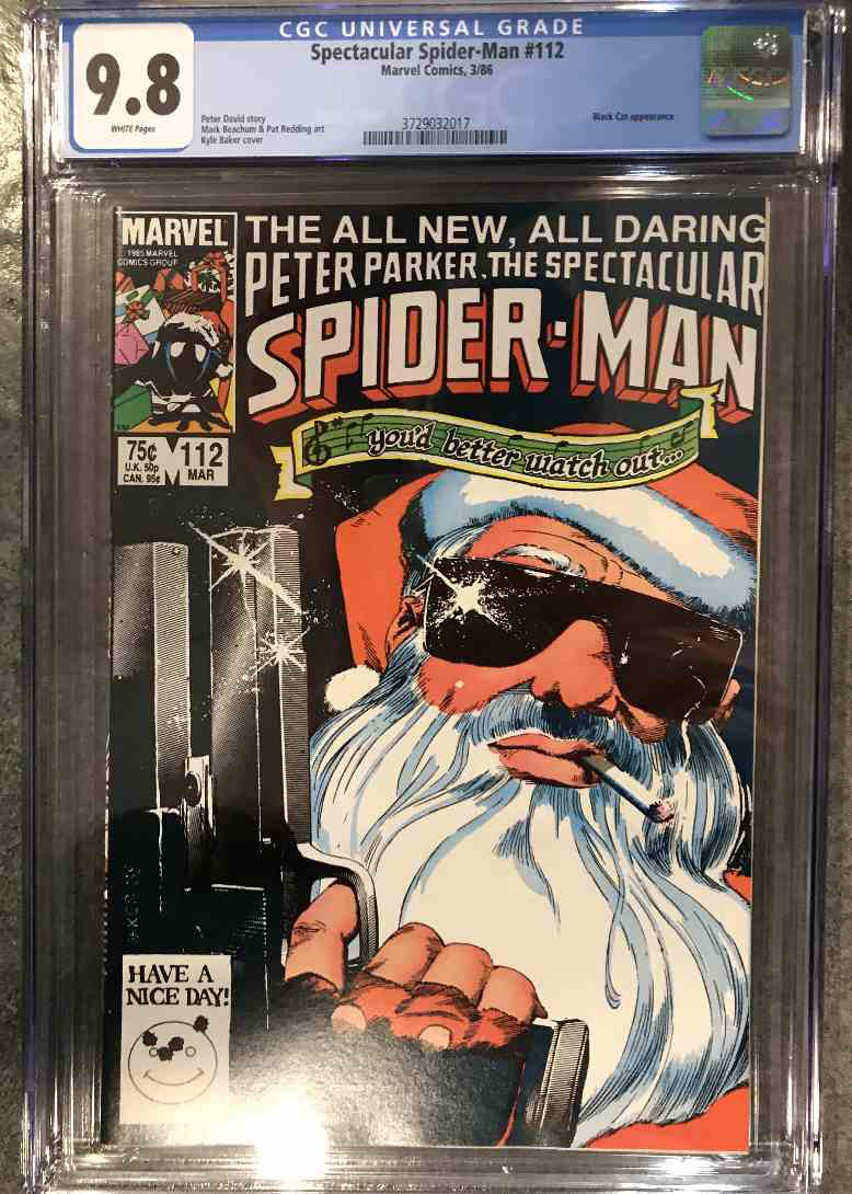 1986 Marvel Cgc 9.8 Santa Cover #112 card front image