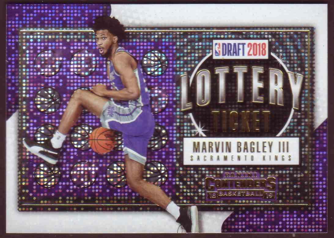 2018-19 Panini Contenders Lottery Tickets Marvin Bagley III #2 card front image