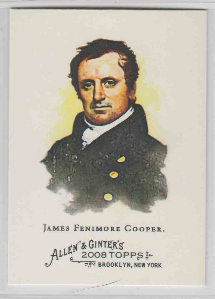 2008 Topps Allen And Ginter James Fenimore Cooper #147 card front image