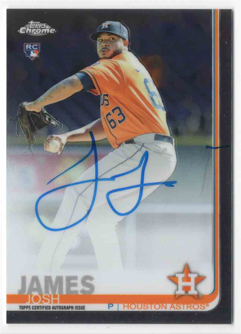 2019 Topps Chrome Rookie Autographs Josh James #RAJJ card front image