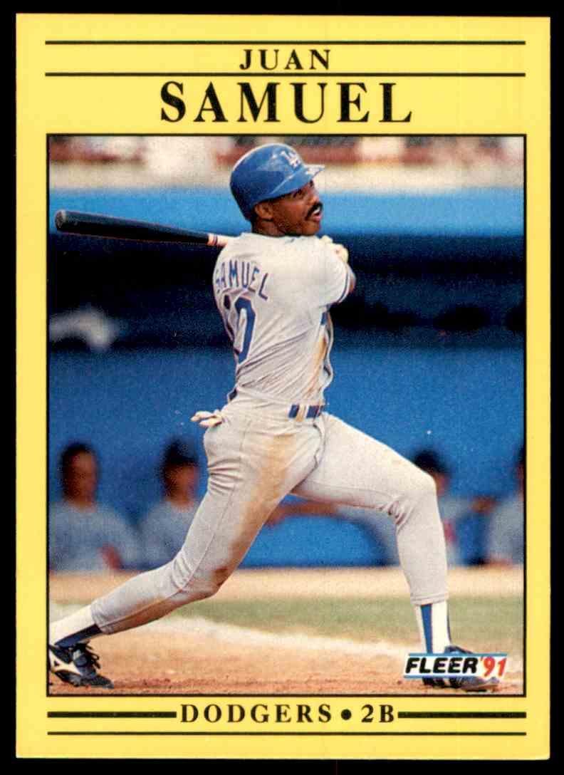 1991 Fleer Juan Samuel #218 card front image
