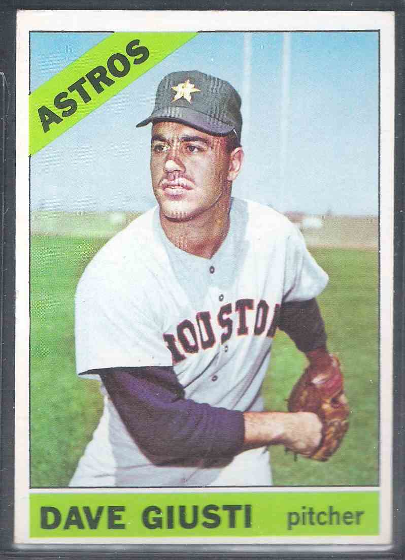 1966 Topps Dave Giusti #258 card front image