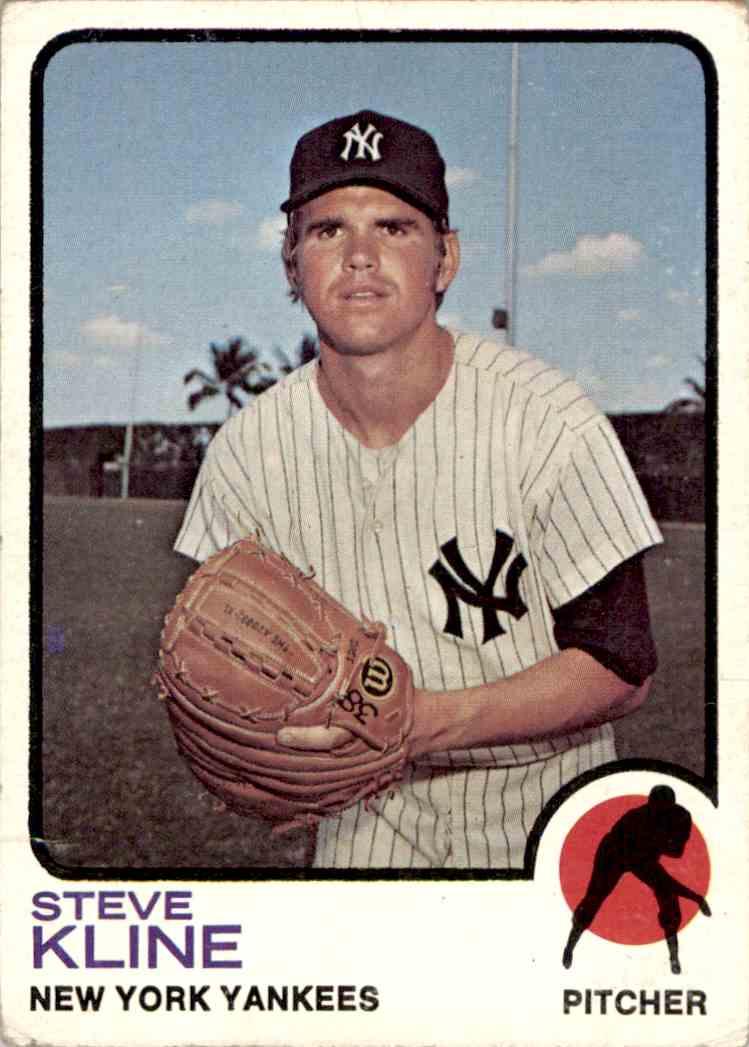 1973 Topps Steve Kline #172 card front image