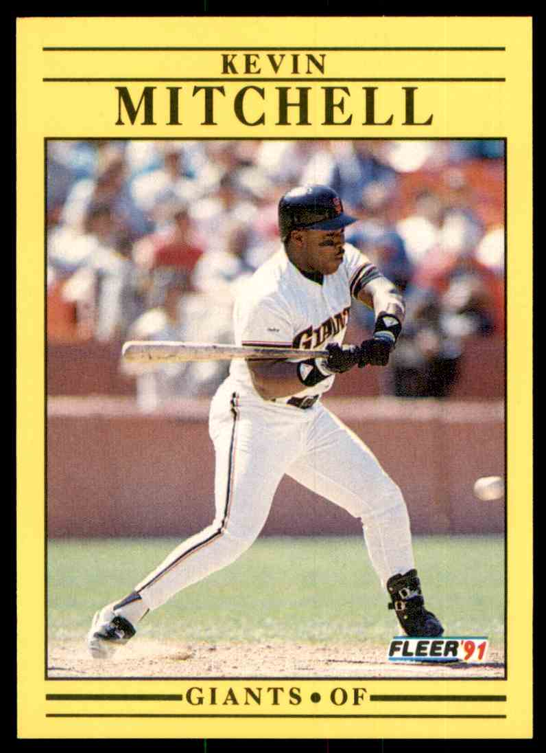 1991 Fleer Kevin Mitchell #267 card front image