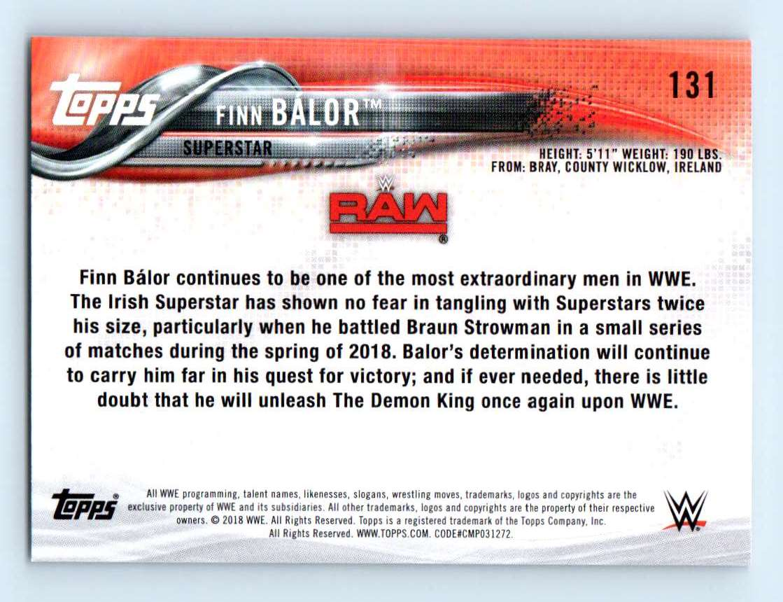 2018 Topps Wwe Then Now Forever Finn Balor #131 card back image