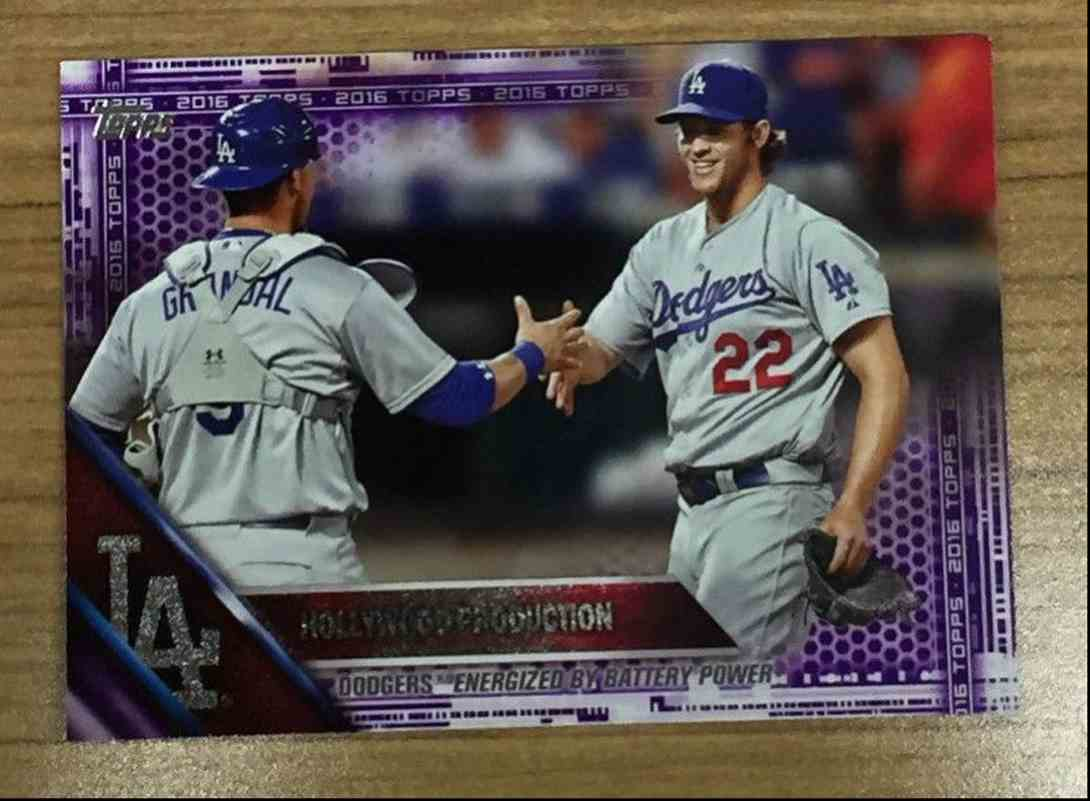 2016 Topps Toy's R Us Purple Clayton Kershaw card front image