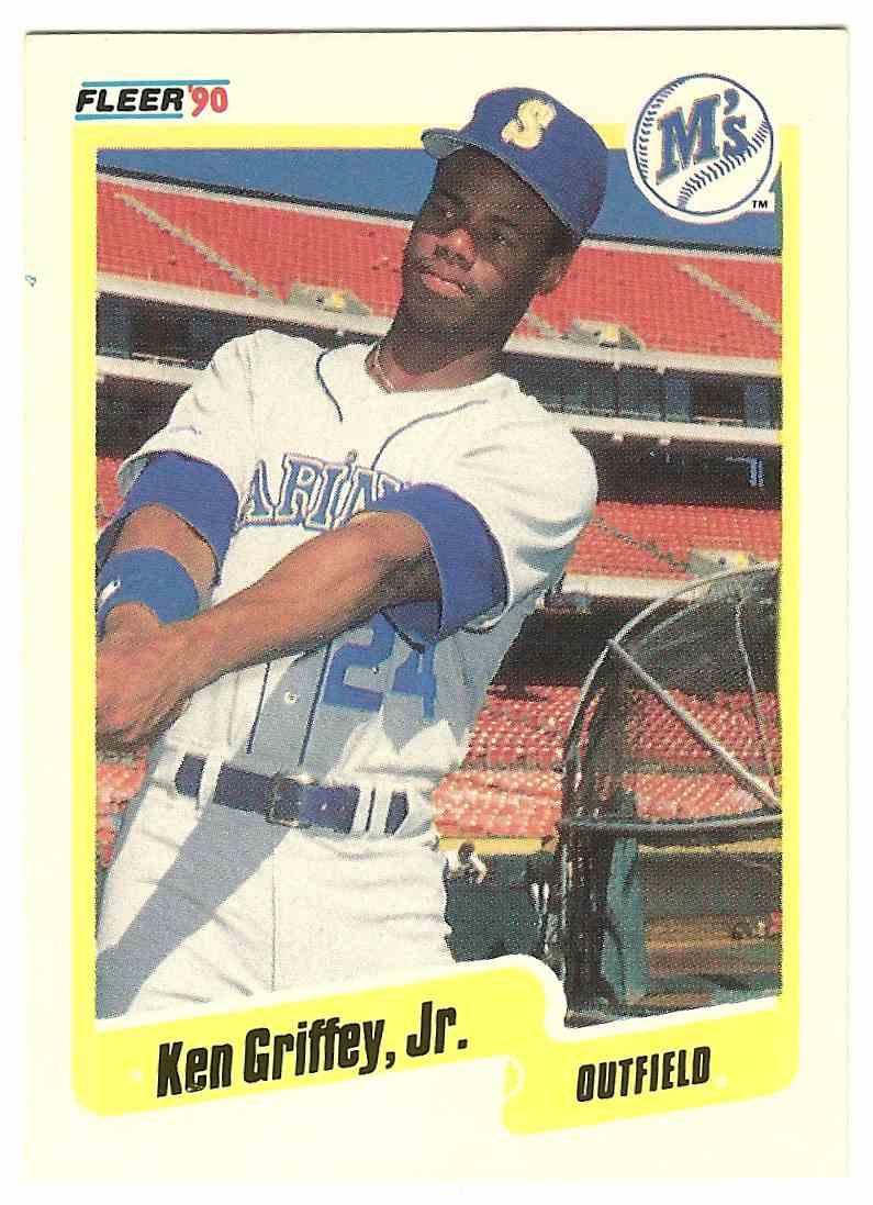 7ec39b3190 1990 Fleer Ken Griffey JR. #513 card front image