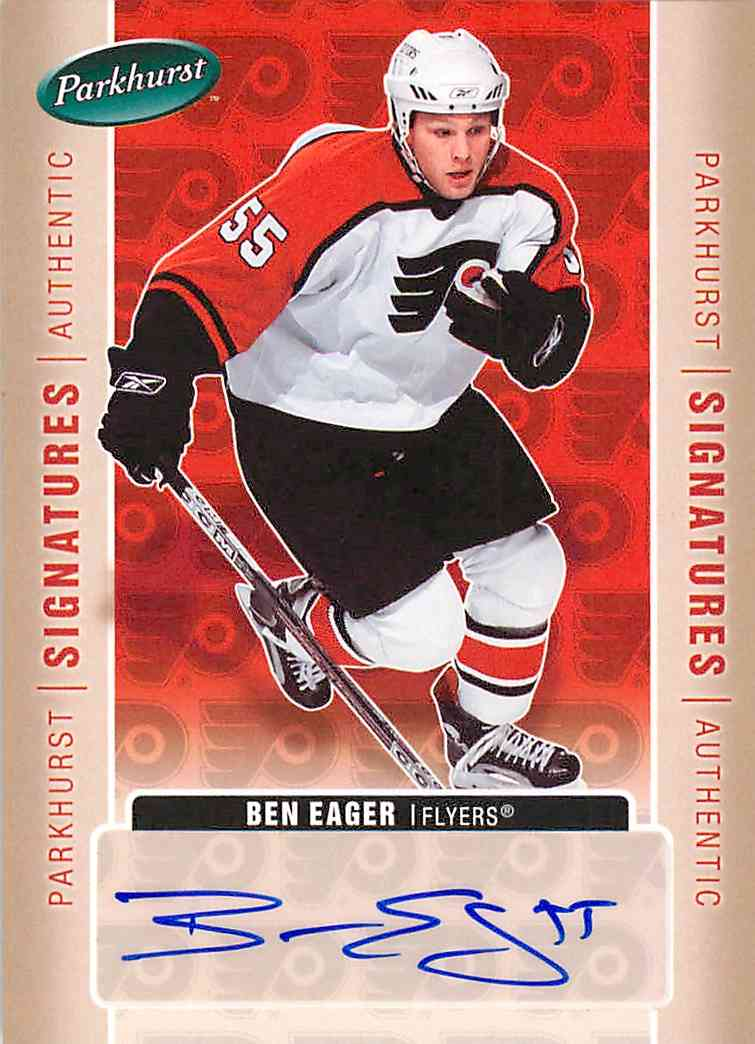2005-06 Upper Deck Parkhurst Ben Eager #BE card front image