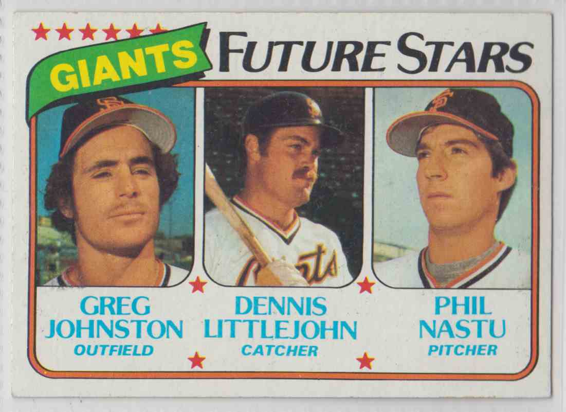1980 Topps Greg Johnston / Dennis Littlejohn / Phil Nastu #686 card front image
