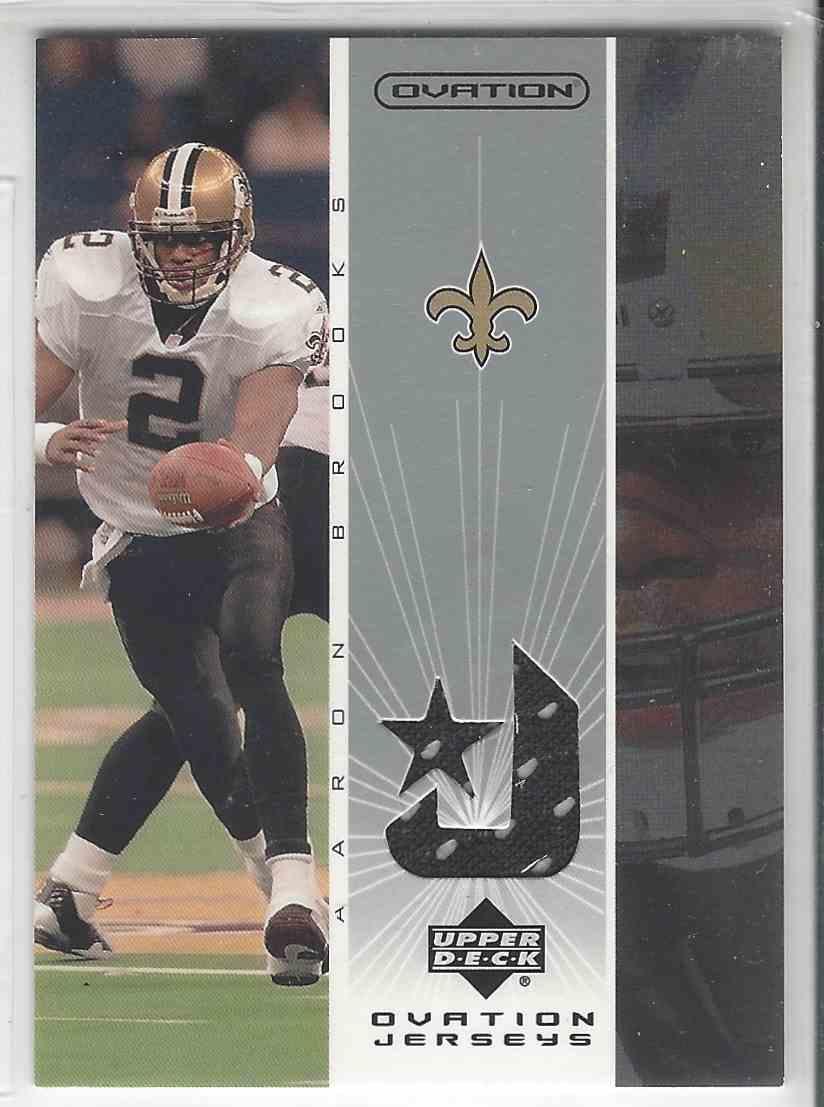 2002 Upper Deck Ovation Ovation Jerseys Aaron Brooks #OJ-AB card front image