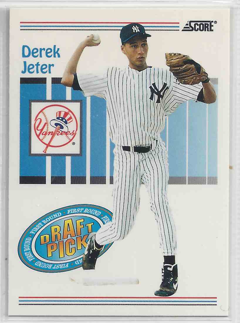 1993 Score Draft Pick Derek Jeter #489 card front image