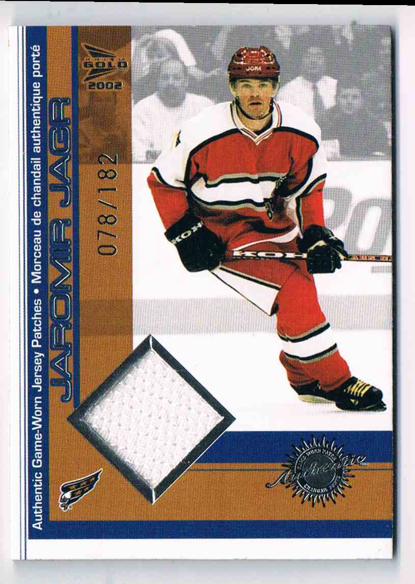 2001-02 Pacific McDonald's Jersey Patches Silver Jaromir Jagr #20 card front image