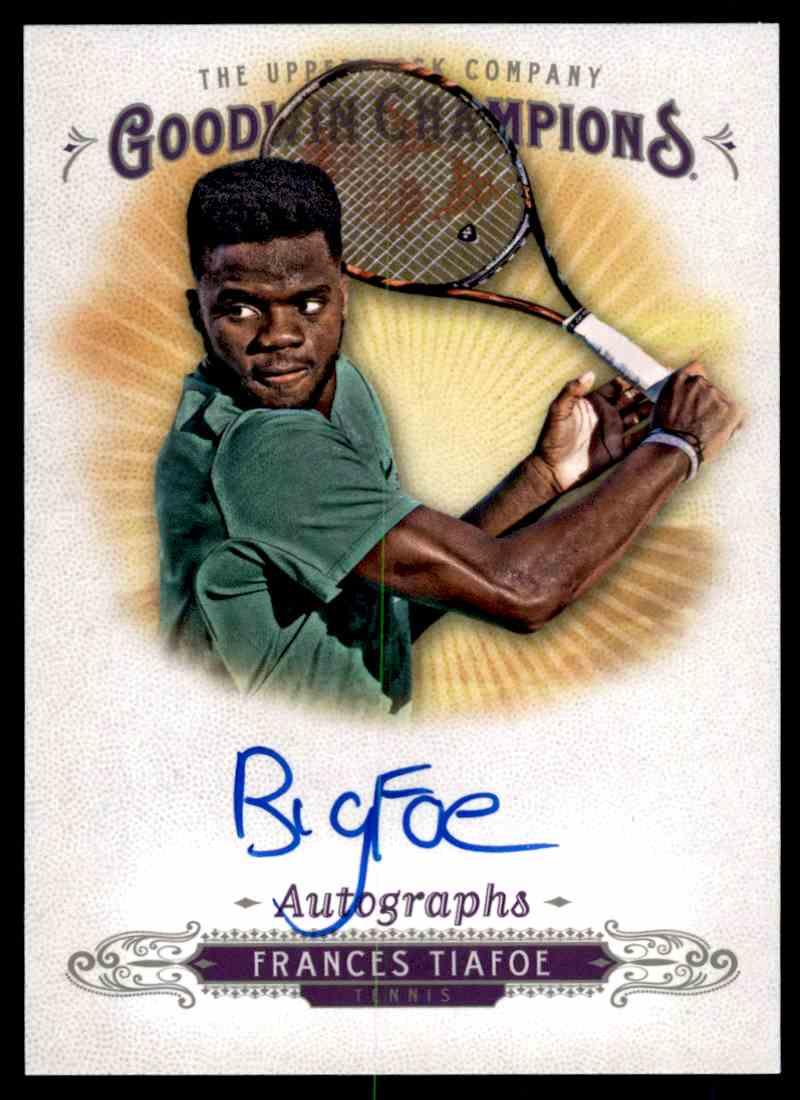 2018 UD GOODWIn Champions Autographs Frances Tiafoe #A-FT card front image