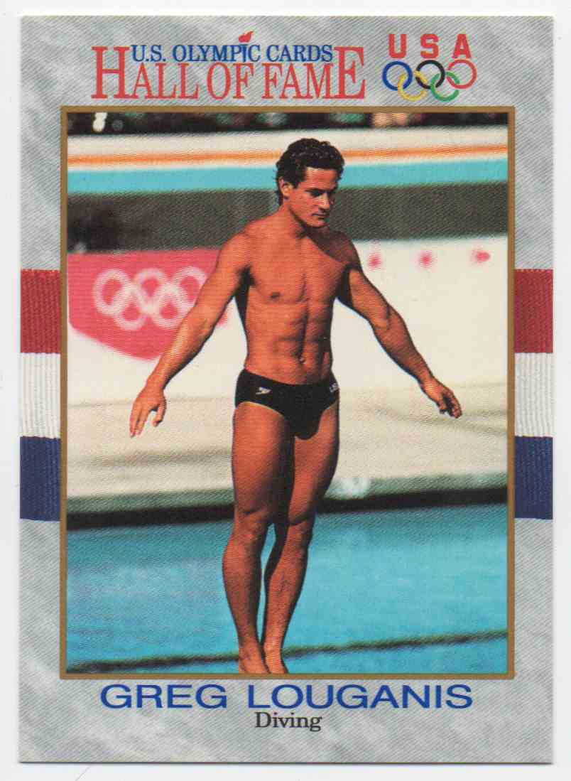 1991 Impel U.S. Olympic Hall Of Fame Greg Louganis #50 card front image