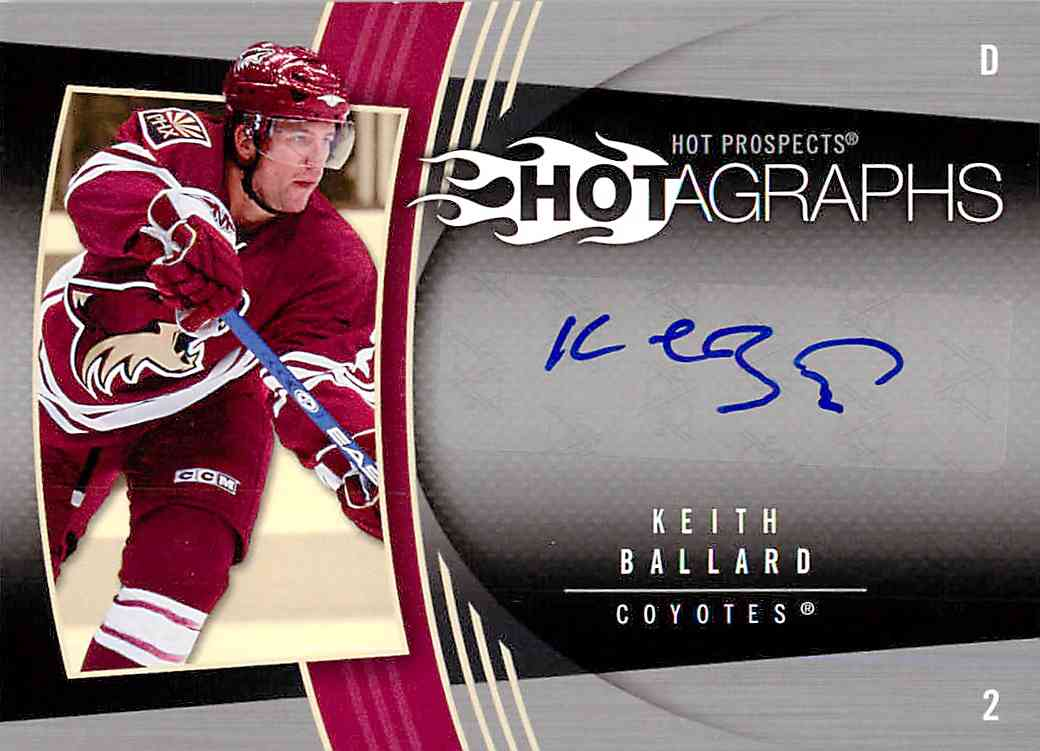 2007-08 Upper Deck Fleer Keith Ballard #H-KB card front image