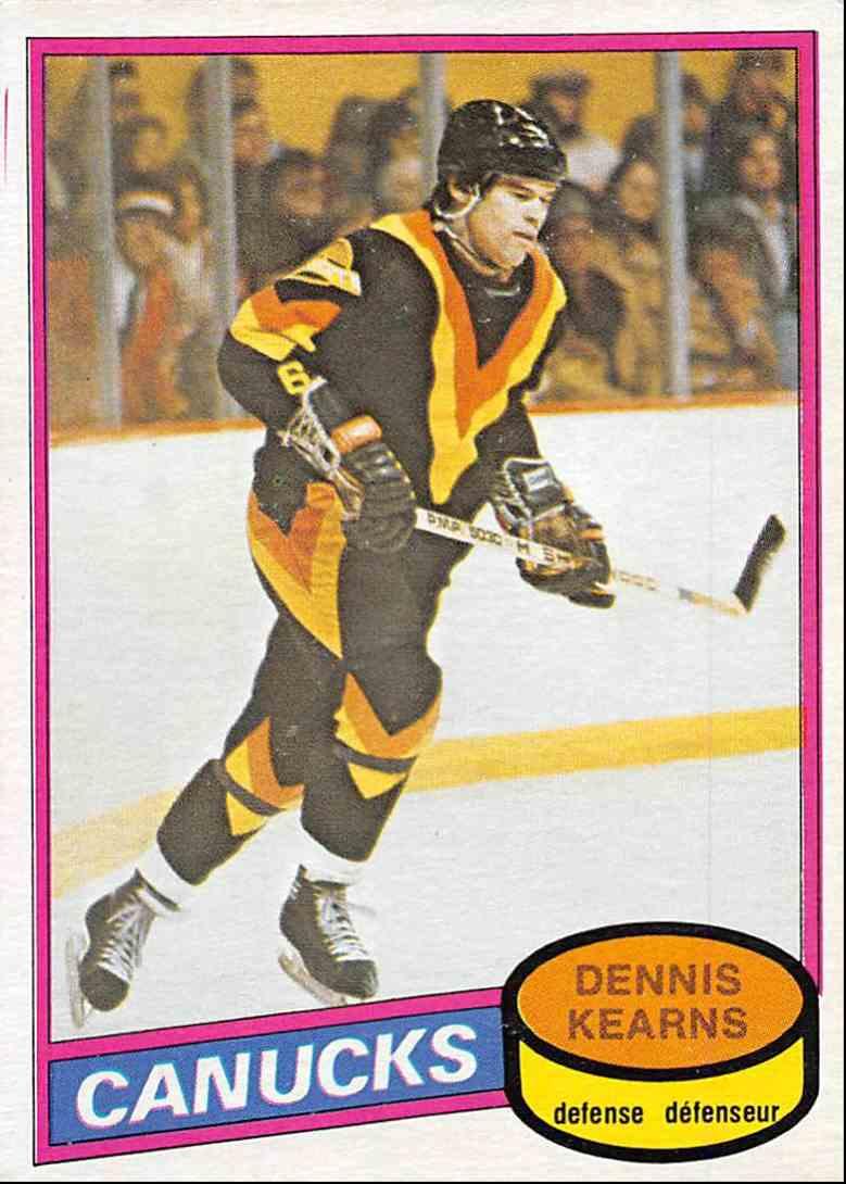 1980-81 O-Pee-Chee Dennis Kearns #392 card front image