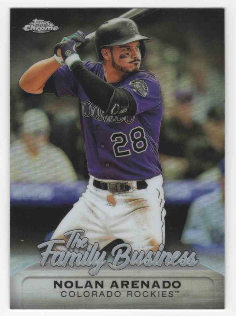2019 Topps Chrome Update The Family Business Nolan Arenado #FBC18 card front image