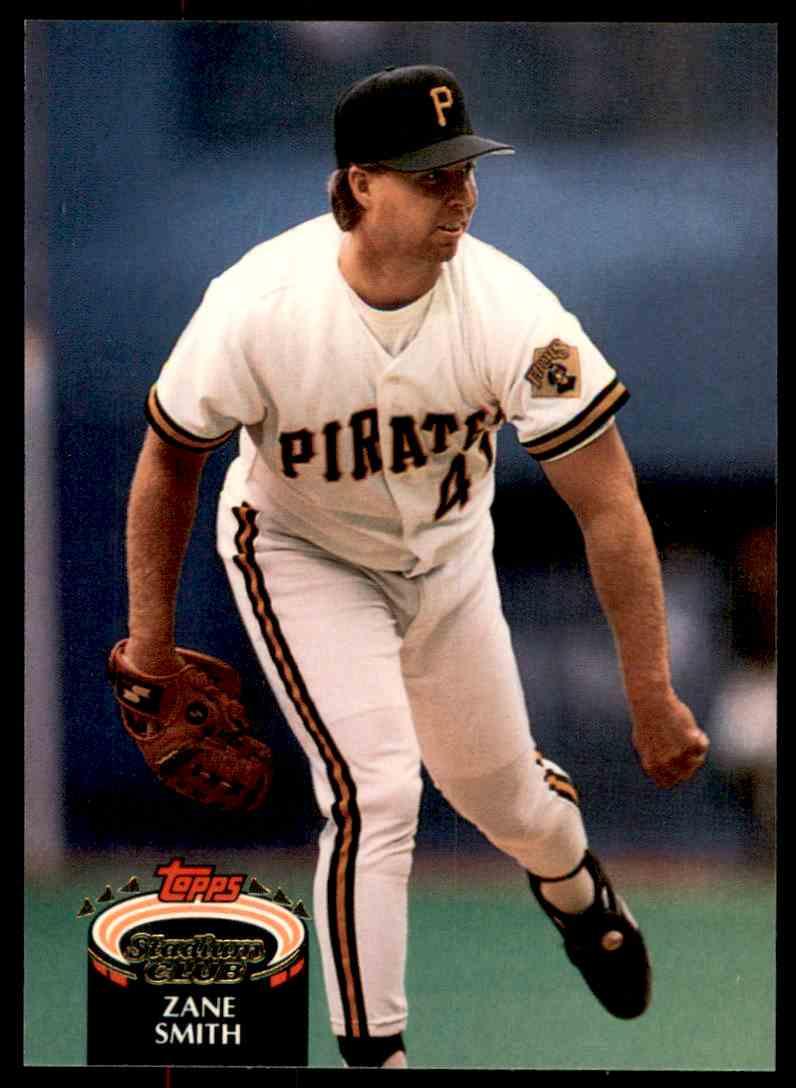 1992 Stadium Club Zane Smith #807 card front image