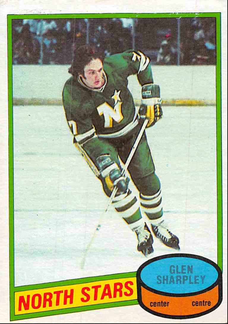 1980-81 O-Pee-Chee Glen Sharpley #218 card front image