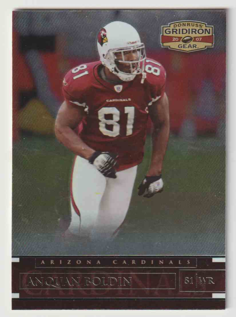 2007 Donruss Gridiron Gear Anquan Boldin #39 card front image