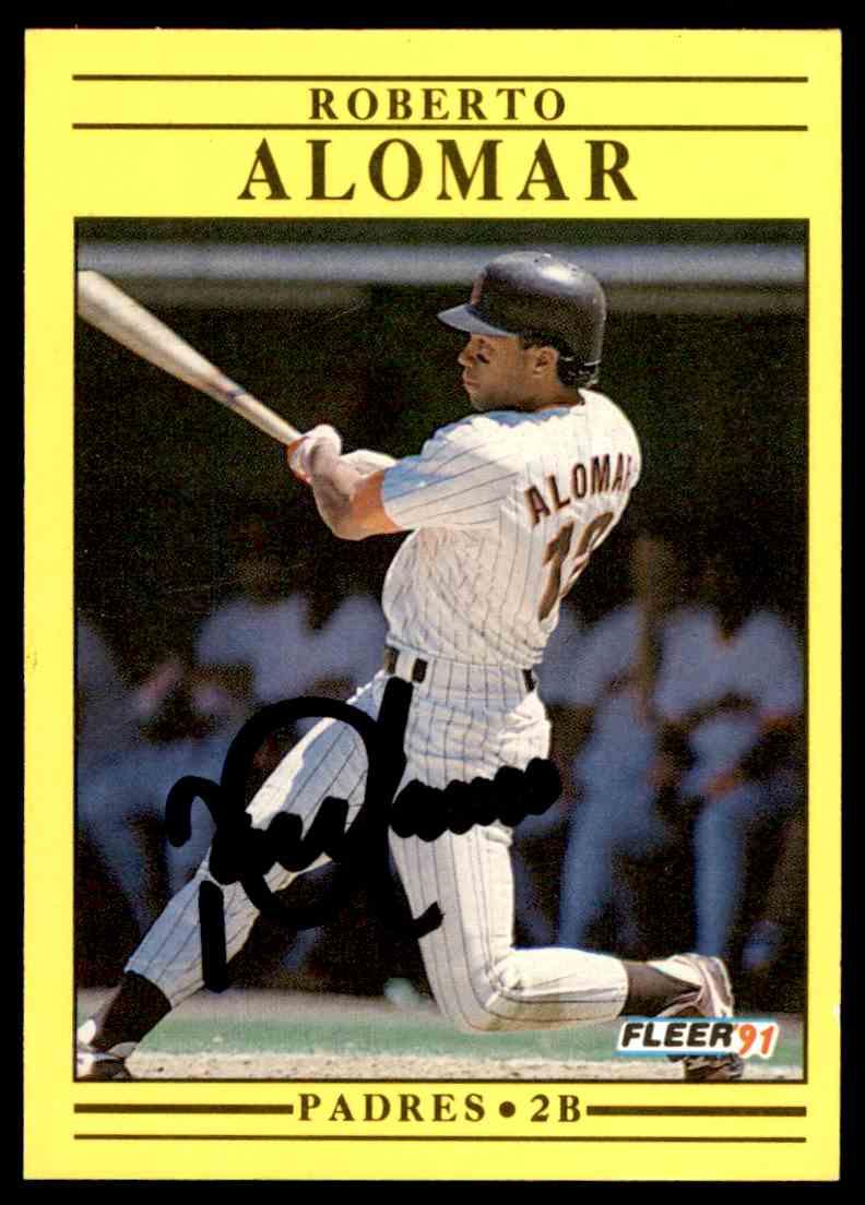 1991 Fleer Roberto Alomar #523 card front image
