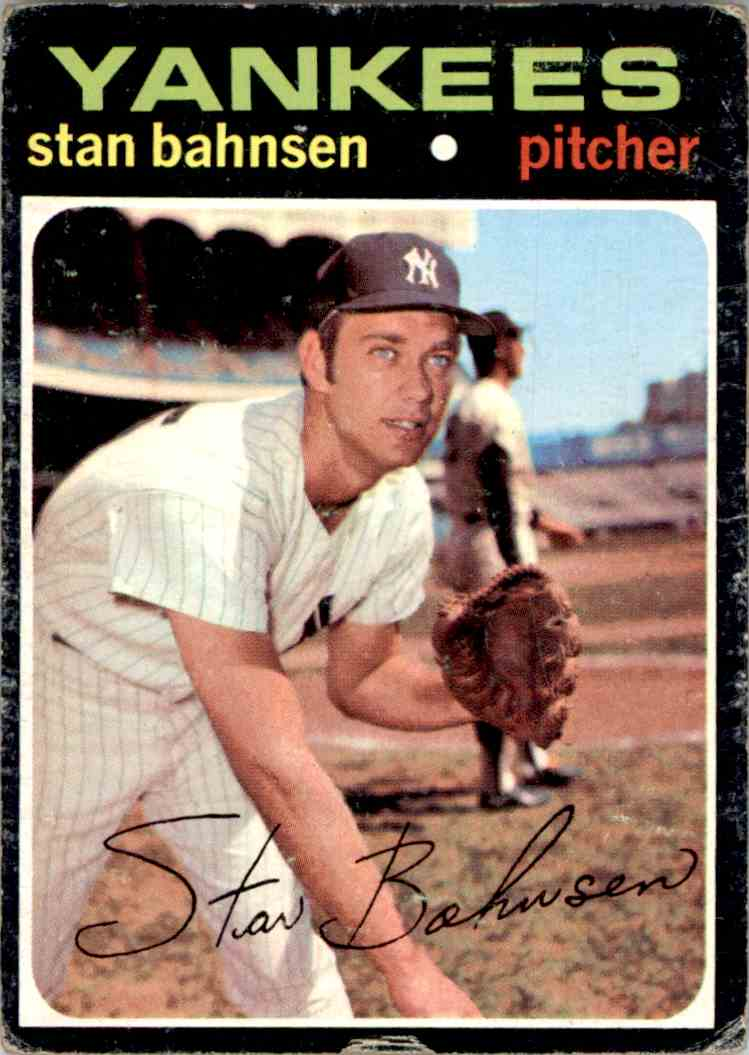 1970 Topps Stan Bahnsesn #184 card front image