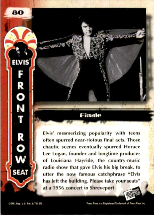 2007 Elvis The Music Finale #80 card back image