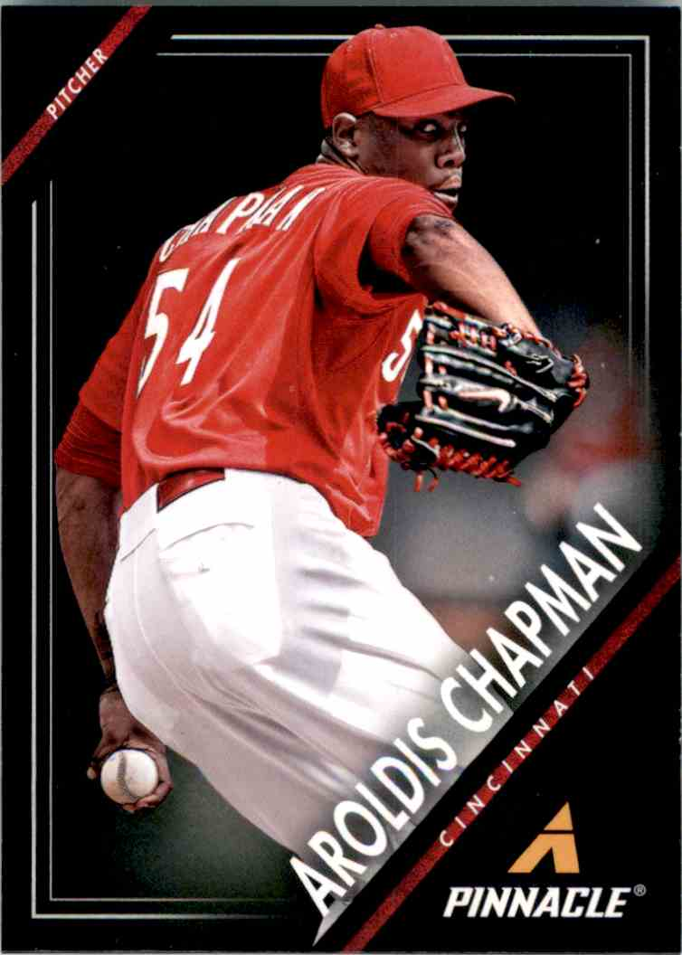 2013 Pinnacle Aroldis Chapman #1 card front image