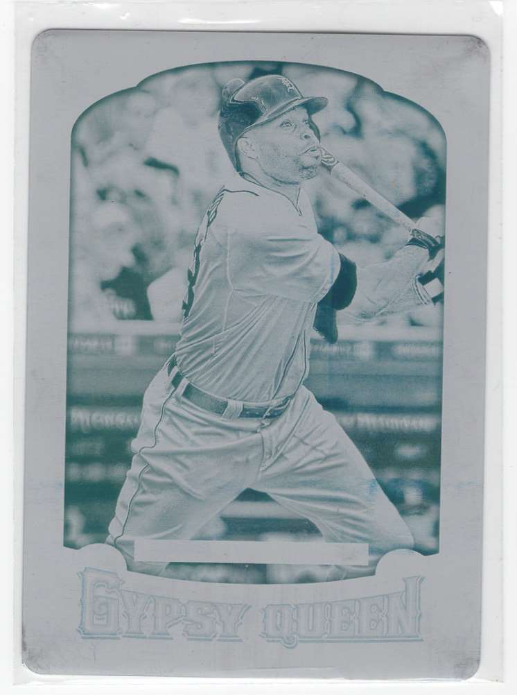 2014 Topps Gypsy Queen Cyan Collector Plate Torii Hunter #333 card front image