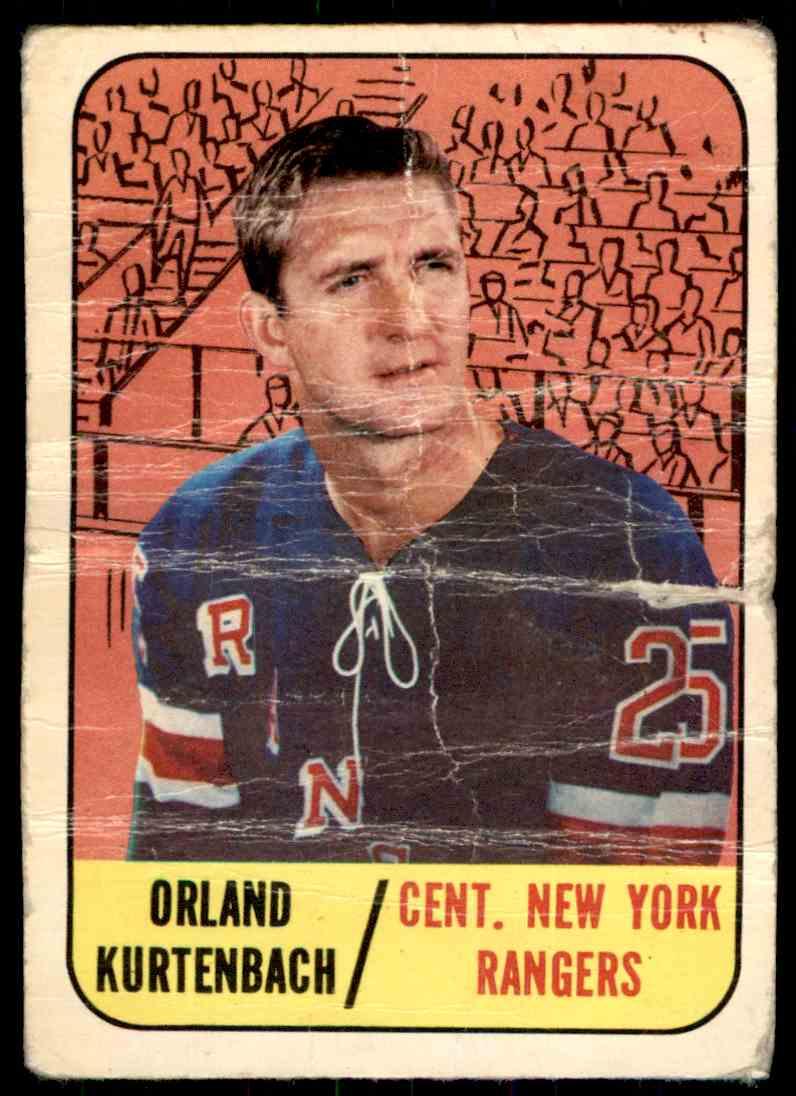 1967-68 Topps Orland Kurtenbach #87 card front image