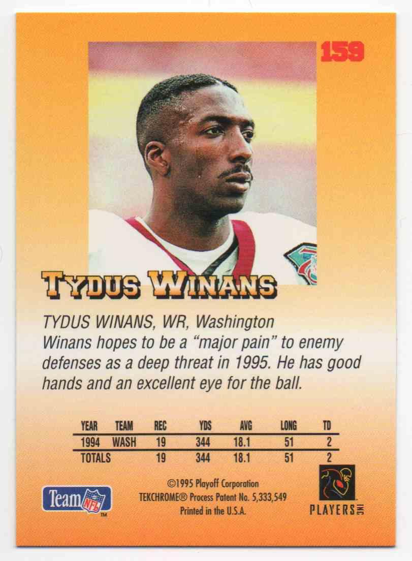 1995 Playoff Prime Tydus Winans #159 card back image