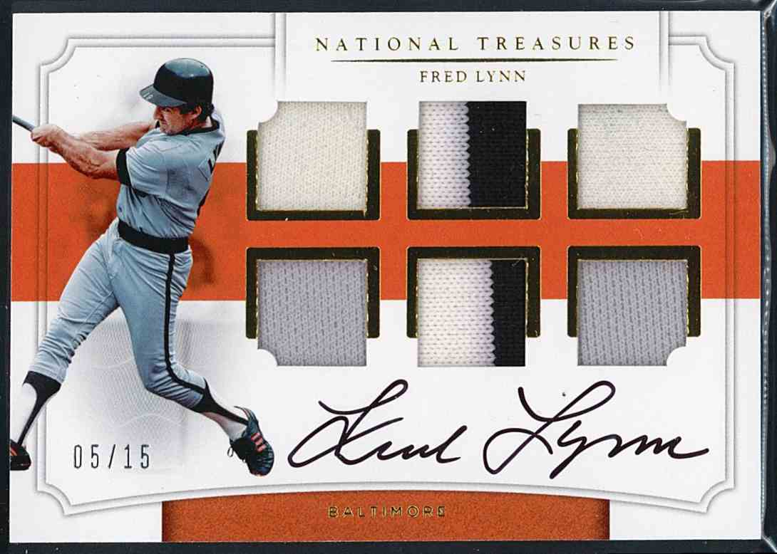 2017 Panini National Treasures Fred Lynn #SSS-LY card front image