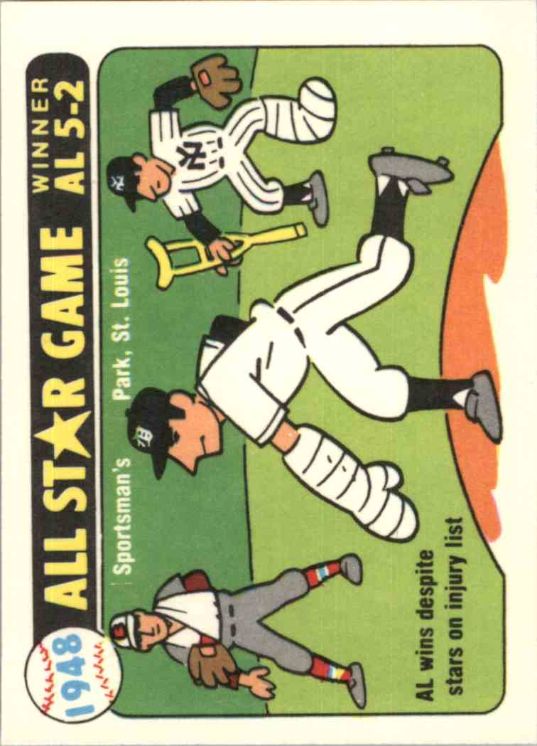 1981 Laughlin/Fleer 1948 All-Star Stickers - Dimaggio, Ted Williams, Kell - card front image