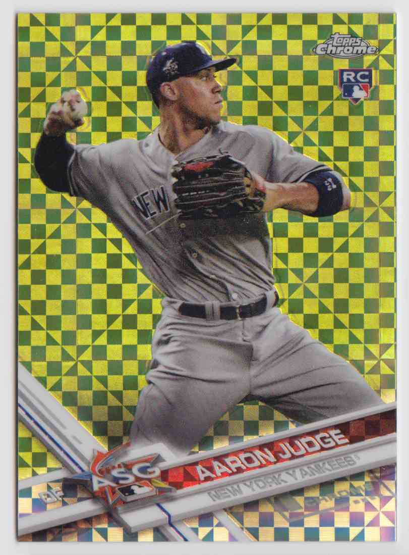 2017 Topps Chrome Update X-Fractor Aaron Judge #HMT40 card front image