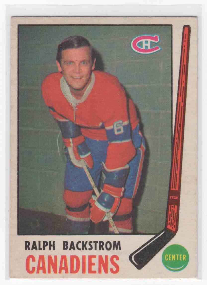 1969-70 O-Pee-Chee Ralph Backstrom #166 card front image