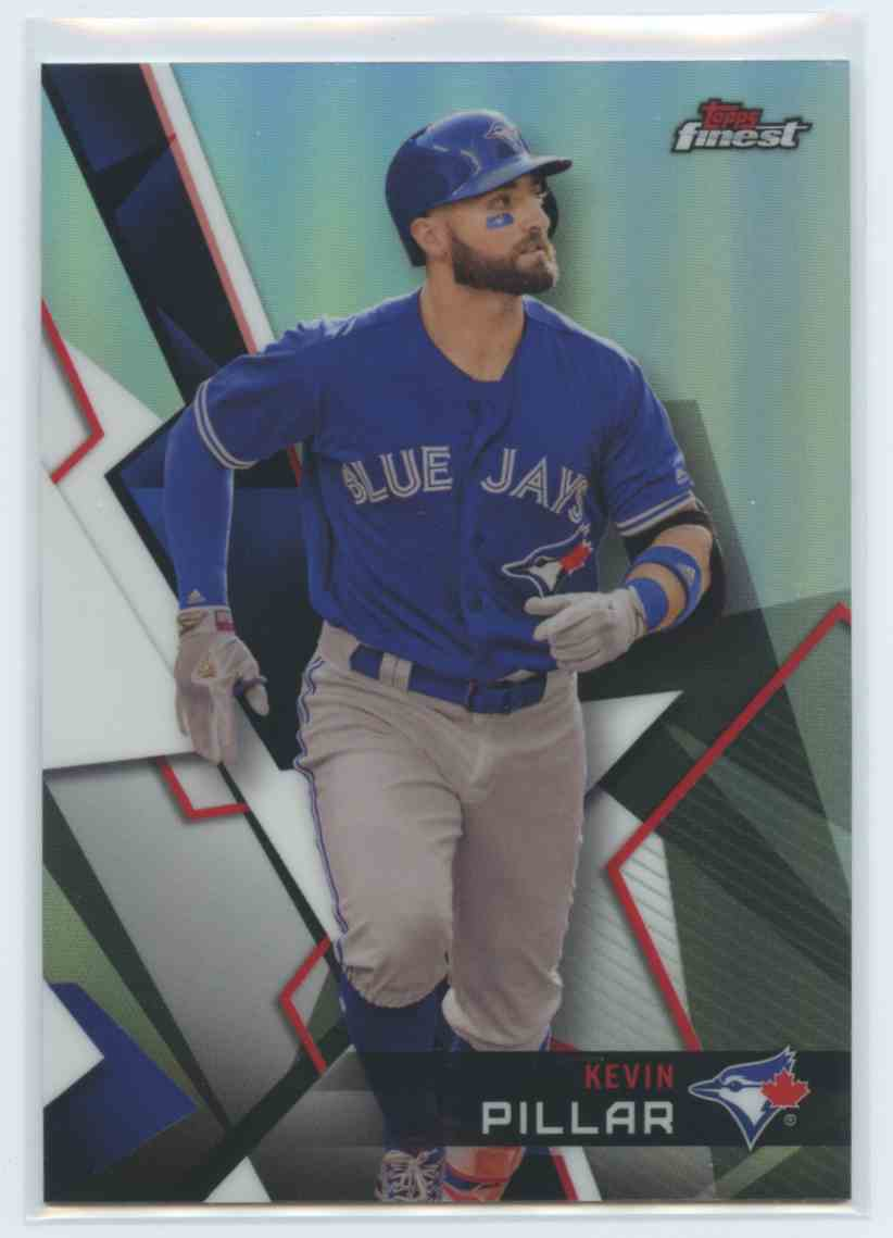 6546a438578 2018 Topps Finest Refractor Kevin Pillar - Toronto Blue Jays  42 card front  image