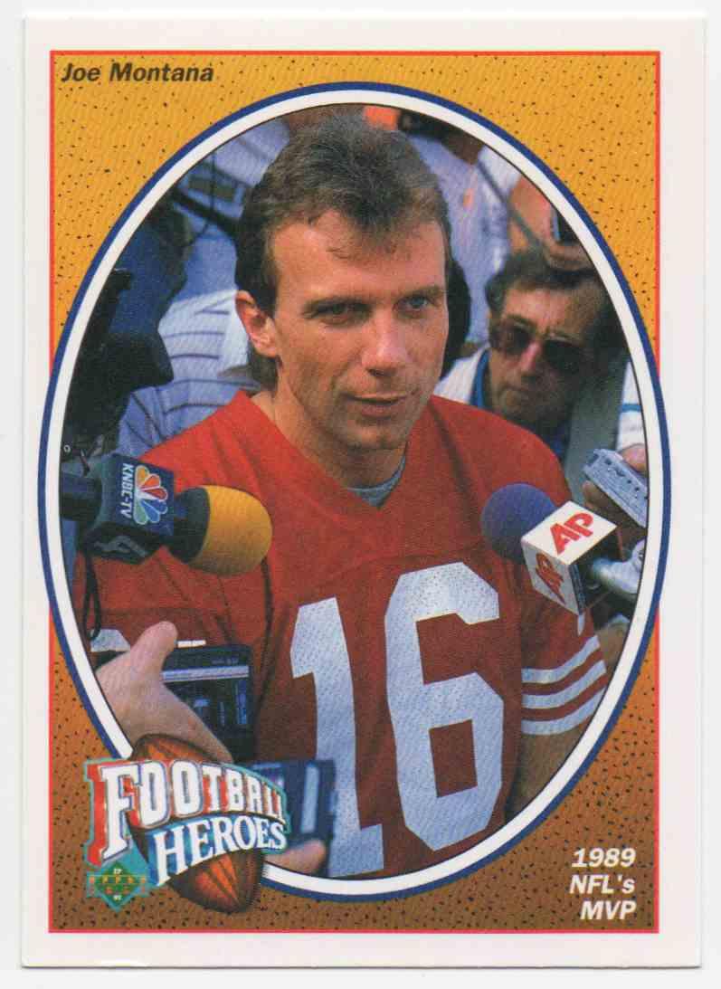 1991 Upper Deck Football Heroes Joe Montana #6 card front image