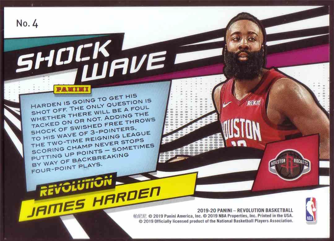 2019-20 Panini Revolution Shockwave James Harden #4 card back image